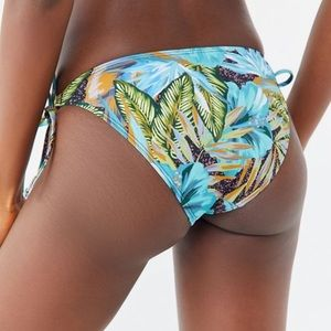 Out From Under Printed Miley Side-Tie Swim Bottom